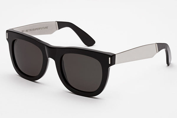 Super - Ciccio Francis Black Silver Sunglasses