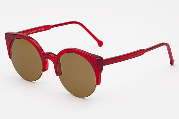 Super - Lucia Ruby Red Sunglasses