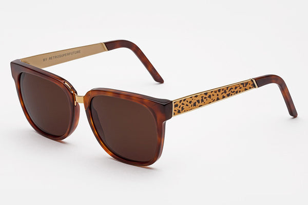 Super - People Francis Leopard Sunglasses
