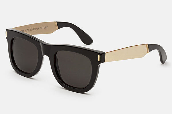 Super - Ciccio Francis Black Gold Sunglasses