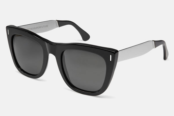Super - Gals Francis Silver Black Sunglasses
