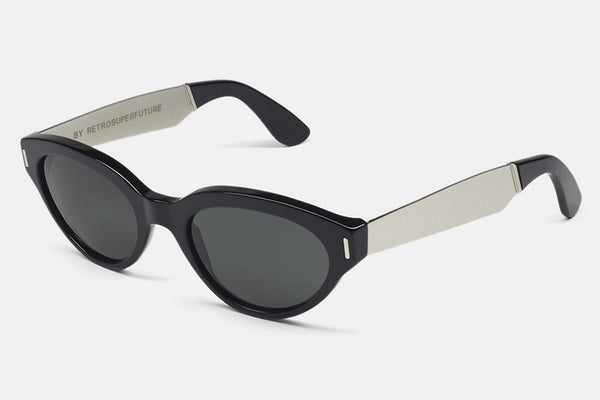 Super - Drew Francis Black Silver Sunglasses