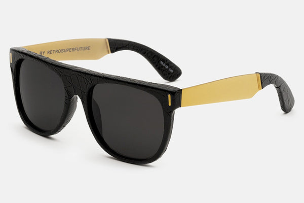 Super - Flat Top Francis Leather Sunglasses