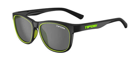 Tifosi - Swank Satin Black Neon Sunglasses / Smoke Lenses