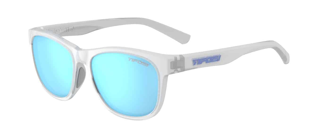 Tifosi - Swank Satin Clear Sunglasses / Clarion Blue Polarized Lenses