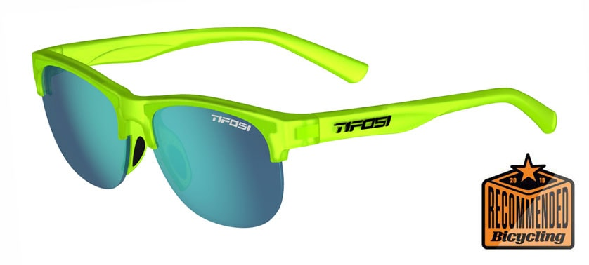 Tifosi - Swank SL 57mm Satin Electric Green Sunglasses / Sky Blue Lenses