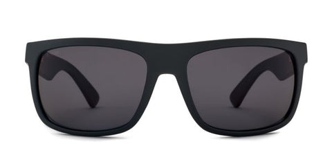 Kaenon - Burnet Mid Black Matte Grip Sunglasses / G12 Ultra Grey Lenses