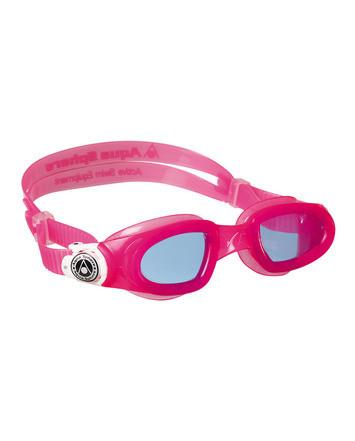 Aqua Sphere - Moby Kid Pink White Swim Goggles / Blue Lenses