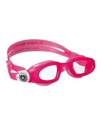 Aqua Sphere Moby Kid Pink  / White Swim Goggles, Clear Lenses