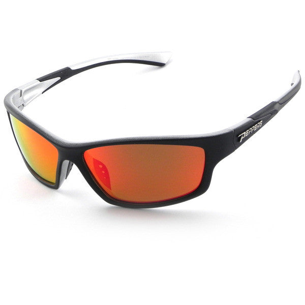 Peppers - Nomad Matte Black Sunglasses, Red Mirror Lenses
