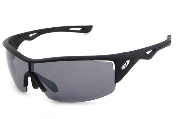 Peppers - Walker Matte Black Sunglasses, Flash Mirror Lenses