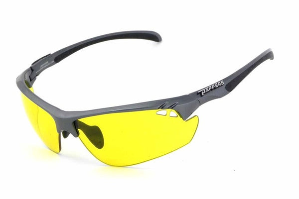 Peppers - Frontline Black Sunglasses, Yellow Lenses