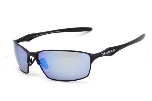Peppers - Nevada Black Sunglasses, Blue Mirror Lenses