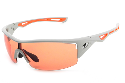 Peppers - Walker Matte Grey Sunglasses, Intensity Orange Lenses