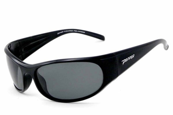 Peppers - Hovercraft Shiny Black Sunglasses, Flash Mirror Lenses