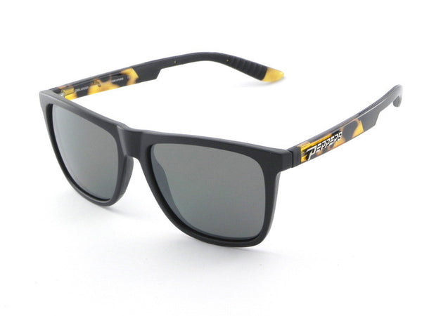 Peppers - Flatbush Black + Tortoise Temples Sunglasses, G-15 Lenses