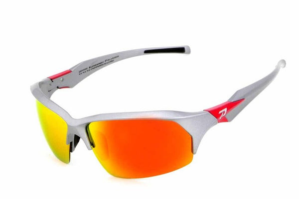 Peppers - Circuit Breaker Chrome Silver Sunglasses, Red Mirror Lenses