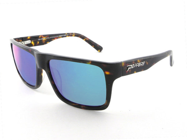 Peppers - Kahuna Havana Tort Sunglasses, Blue Mirror Lenses