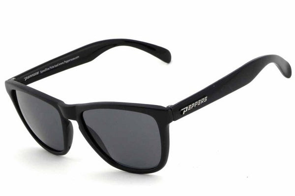 Peppers Breakers Black Sunglasses, Smoke Lenses