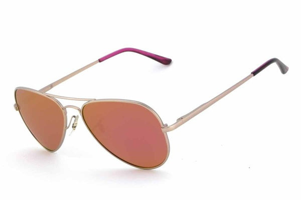 Peppers Katama Gold Sunglasses, Pink Mirror Lenses