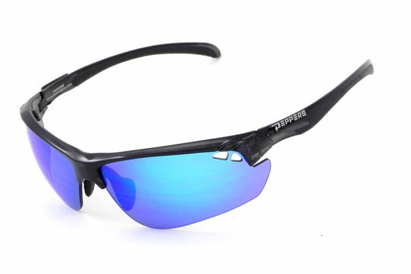 Peppers - Frontline Grey Sunglasses, Blue Mirror Lenses