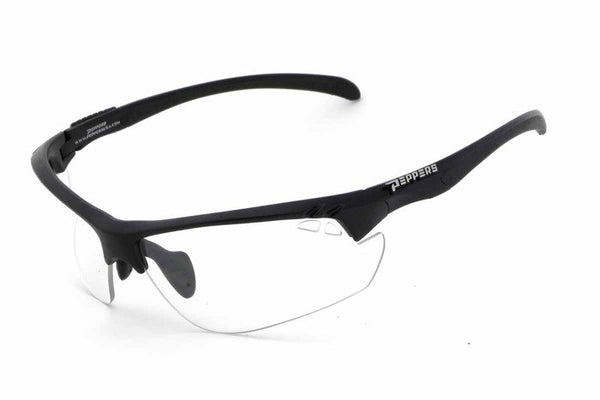 Peppers - Frontline Black Sunglasses, Clear Lenses