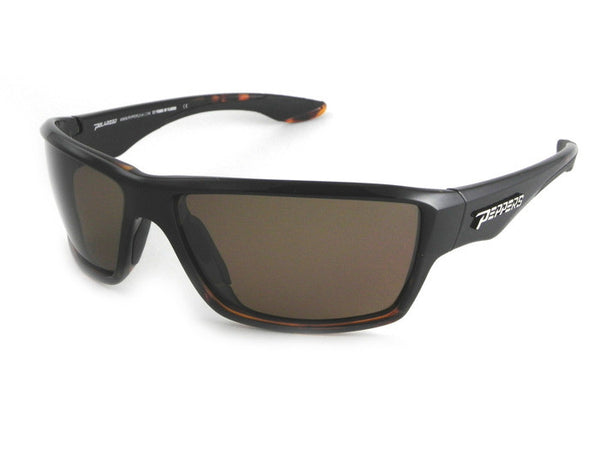 Peppers - Pipeline Black + Tortoise Fade Sunglasses, Brown Lenses