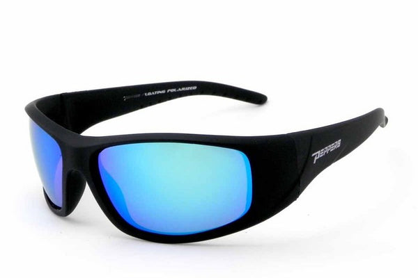 Peppers - Dry Dock Matte Black Sunglasses, Blue Mirror Lenses