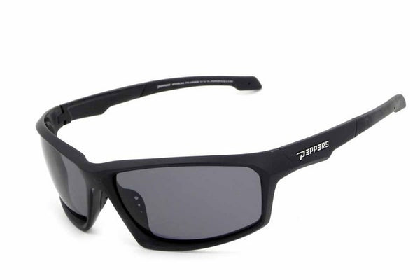 Peppers Trigger Matte Black Sunglasses, Smoke Lenses