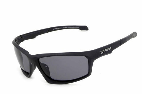 Peppers - Trigger Matte Black Sunglasses, Smoke Lenses