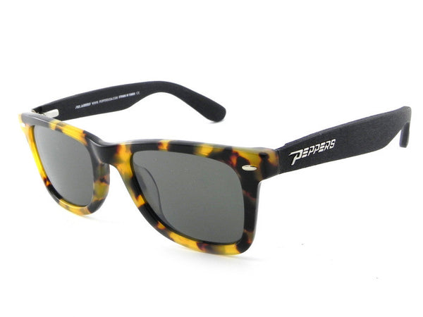 Peppers - Headwinds Tokyo Tort + Black Temples Sunglasses, Mirror Lenses