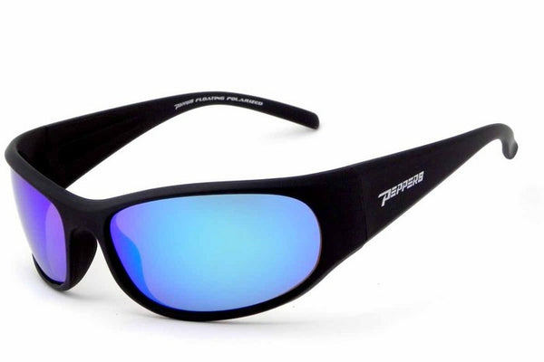Peppers - Hovercraft Matte Black Sunglasses, Blue Mirror Lenses