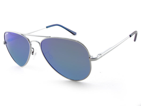 Peppers - Maverick Silver Sunglasses, Blue Mirror Lenses
