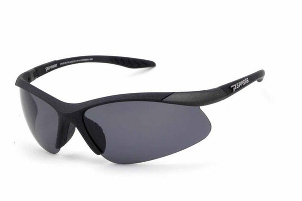 Peppers Ricochet Matte Black Sunglasses, Flash Mirror Lenses