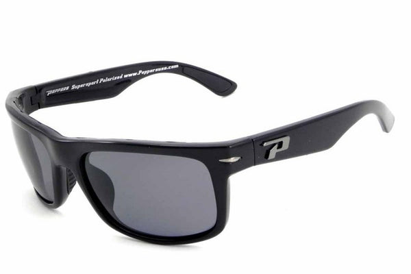 Peppers Stockton Black Sunglasses, Smoke Lenses