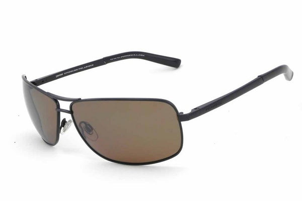 Peppers - Kona Shiny Black Sunglasses, Flash Mirror Lenses