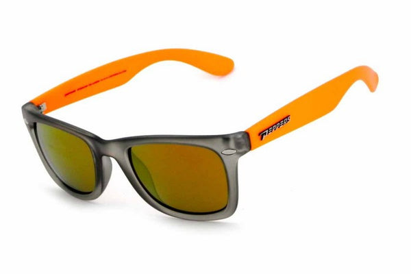 Peppers - Sweet Grey & Orange Sunglasses, Gold Mirror Lenses