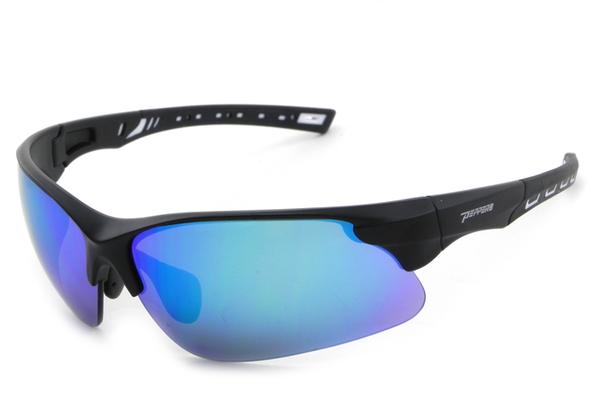 Peppers - Swift Matte Black Sunglasses, Diamond Blue Mirror Lenses