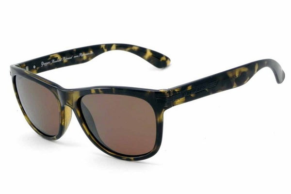 Peppers - Westwood Shiny Amber Tortoise Sunglasses, Flash Mirror Lenses