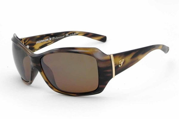 Peppers Molly Carmel Wisp Tortoise Sunglasses, Flash Mirror Lenses
