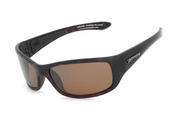 Peppers Cutthroat Matte Tortoise Sunglasses, Flash Mirror Lenses