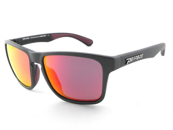 Peppers - Sunrise Dark Grey Sunglasses, Red Mirror Lenses