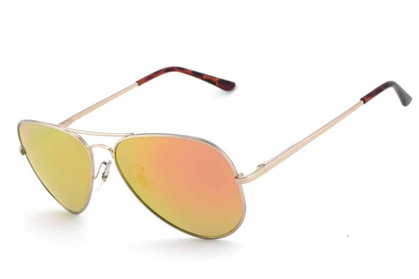 Peppers - Maverick Shiny Gold Sunglasses, Gold Mirror Lenses