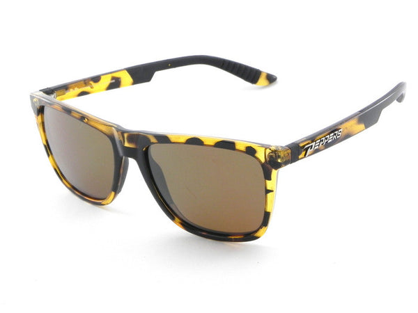 Peppers Flatbush Blonde Tortoise Sunglasses, Brown Lenses