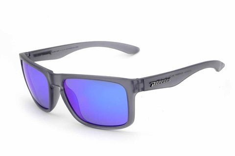 Peppers - Sunset Blvd Grey Sunglasses, Ice Blue Mirror Lenses