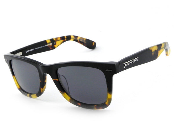 Peppers - Headwinds Black + Tokyo Tort Fade Sunglasses, Smoke Lenses