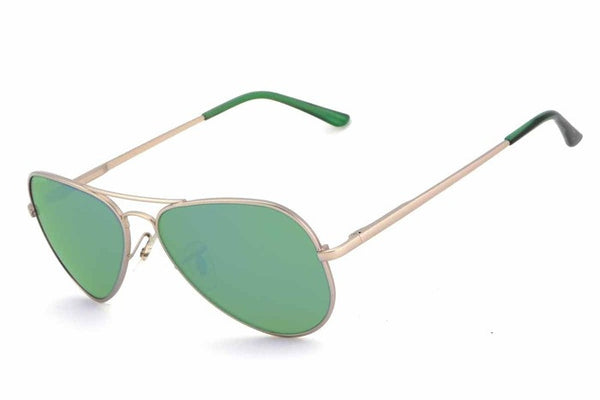 Peppers - Katama Gold Sunglasses, Green Mirror Lenses