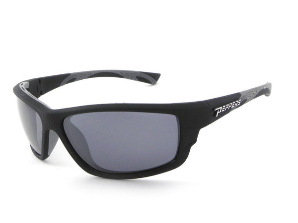 Peppers - Rogue Matte Rubberized Black Sunglasses, Smoke Lenses