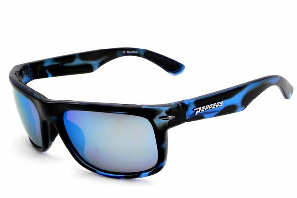 Peppers - Stockton Blue Tort Sunglasses, Blue Mirror Lenses