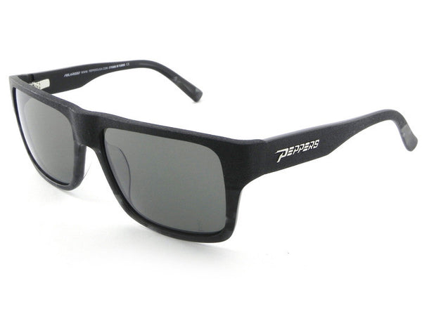 Peppers - Kahuna Black + Grey Fade Sunglasses, Flash Mirror Lenses